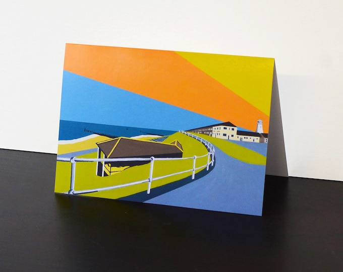 Lighthouse themed Artists Greetings Card by Rebecca Pymar