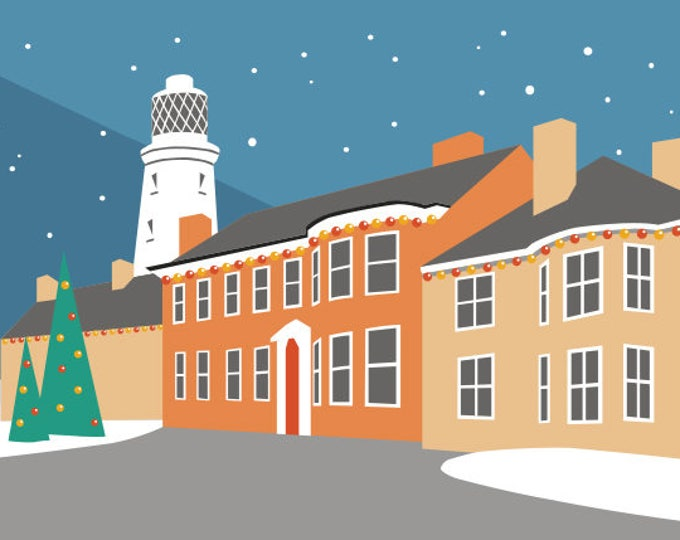 Southwold Lighthouse Christmas Cards pack of 6 by Rebecca Pymar