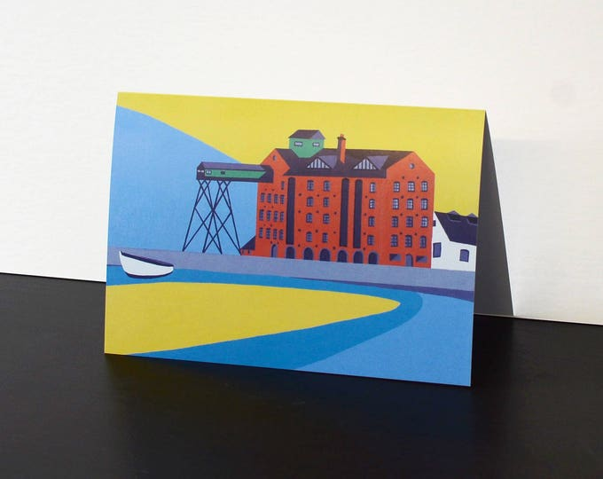 Wells themed Artists Greetings Card 'The Granary' by Rebecca Pymar