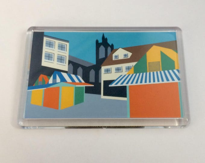 Norwich Market themed Fridge magnet by Rebecca Pymar