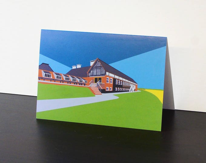 Snape Maltings themed Artists Greetings Card 'Snape Maltings' by Rebecca Pymar