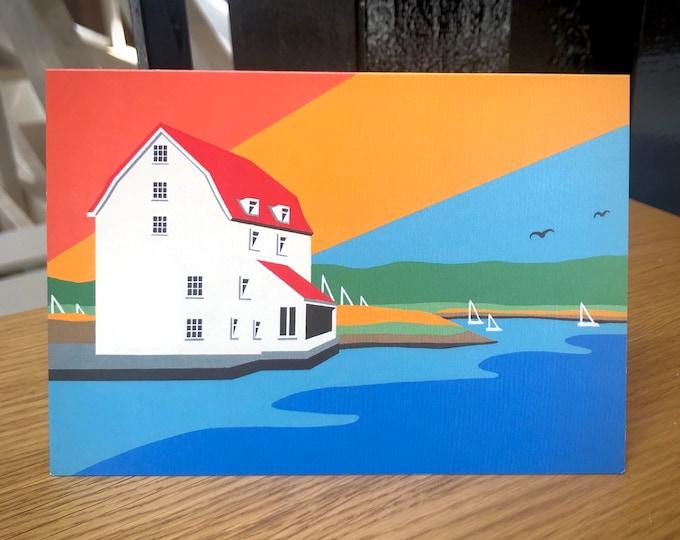 Woodbridge themed Artists Greetings Card 'Woodbridge Tide Mill' by Rebecca Pymar