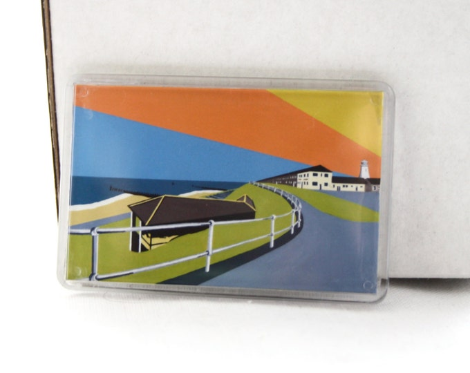 Lighthouse themed Fridge magnet 'Lighthouse View' by Rebecca Pymar