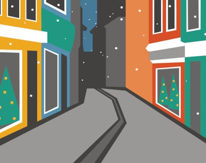 Norwich Lanes Christmas Card by Rebecca Pymar - 'Merry Christmas!'