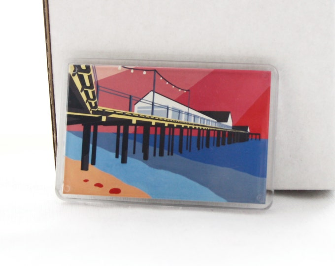 Southwold Pier themed Fridge magnet 'Look up and Out' by Rebecca Pymar