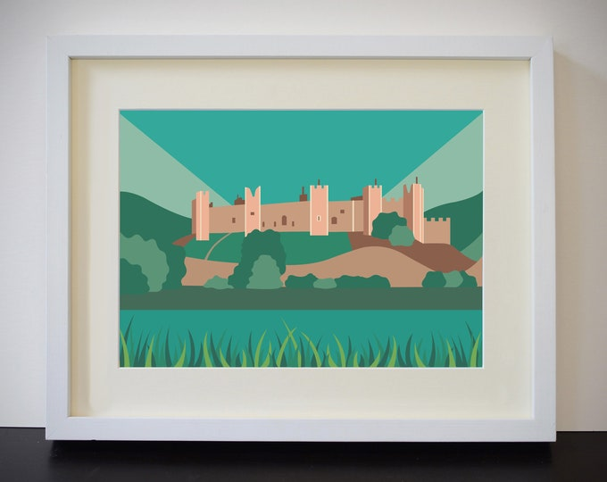 Framlingham Castle Print - Castle on the Hill - Suffolk - by Rebecca Pymar