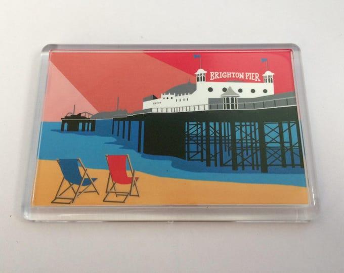 Brighton Pier themed Fridge magnet by Rebecca Pymar