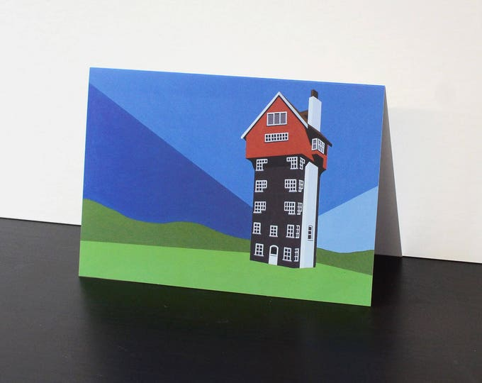 House in the Clouds Artists Greetings Card by Rebecca Pymar