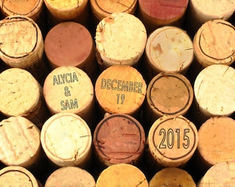 Personalized Wedding Gift Wine Corks Customized Names Dates Photo Anniversary Valentines Day Invitation pp21