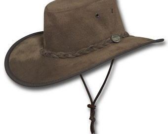 176b8ec43eb36 Barmah Hats 1093RB Wide Brim Suede Leather Hat in Royal Brown