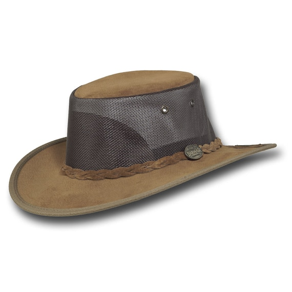 Barmah Hats 1068HI Foldaway Pig Suede Cooler Leather Hat in  26153e23f98