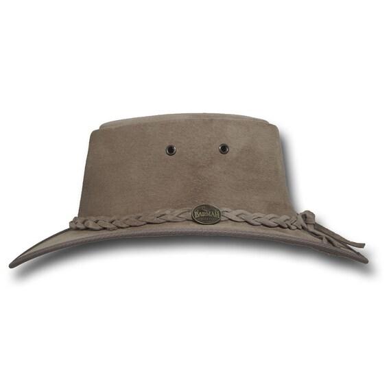 Sombrero de cuero de gamuza cerdo plegable 1066LM sombreros  f91303e4a09