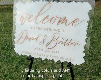 Graduation Sign or any event Custom made Hand lettered and painted any color classic calligraphy on Clear lightweight shatterproof acrylic