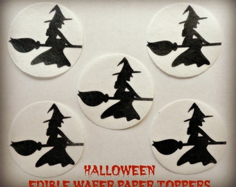 Halloween Witch ~ Frosting Sheet Cake Topper ~ Edible ~ D1367