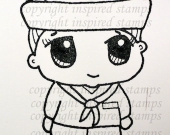 Inspired Stamps... His Little Ones: Sailor ...100% Photopolymer stampset made in USA!!