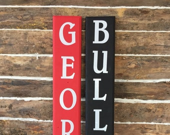 Customized College Football Signs - Georgia Bulldogs - Porch Signs