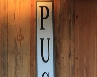 large last - name sign - custom name sign