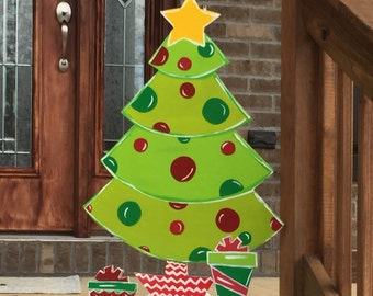 christmas garden art christmas lawn art wood christmas tree outdoor christmas decorations wood signs outdoor