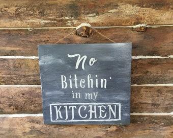 kitchen signs - fun signs - rustic kitchen decor