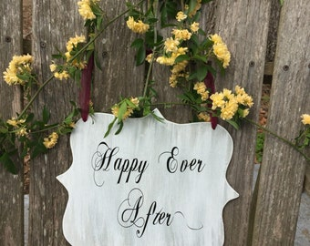 happy ever after - wedding signs - photo prop for weddings