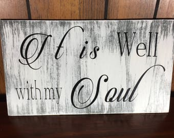 it is well with my soul sign - christian signs - religious wall art - religious signs