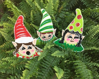 funny ugly outdoor elves christmas art yard art christmas yard stakes outdoor christmas decorations - Elf Outdoor Christmas Decorations