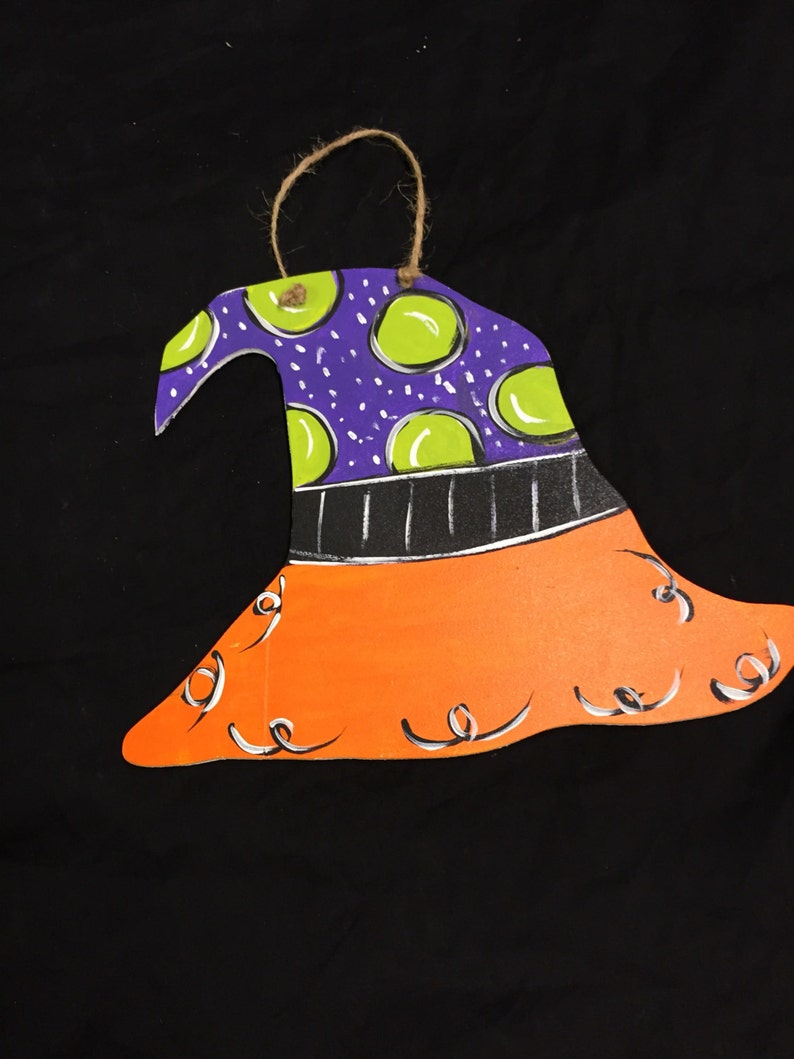 halloween home decor halloween witch hat witch halloween witch hat door hanger happy halloween