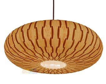 Ceiling Light-Chandelier Lighting-Hanging Lamp-Pendant Light-Lighting-Wood Pendant Light-Rustic Lighting-Umbrella Pendant Light-Maple Veneer