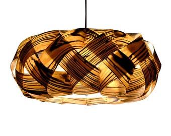 Chandelier Pendant Light Ceiling Light Wood Pendant Lamp Pendant Lighting Rustic  Light Wood Braids Pendant Lamp Engineered Macassar Veneer