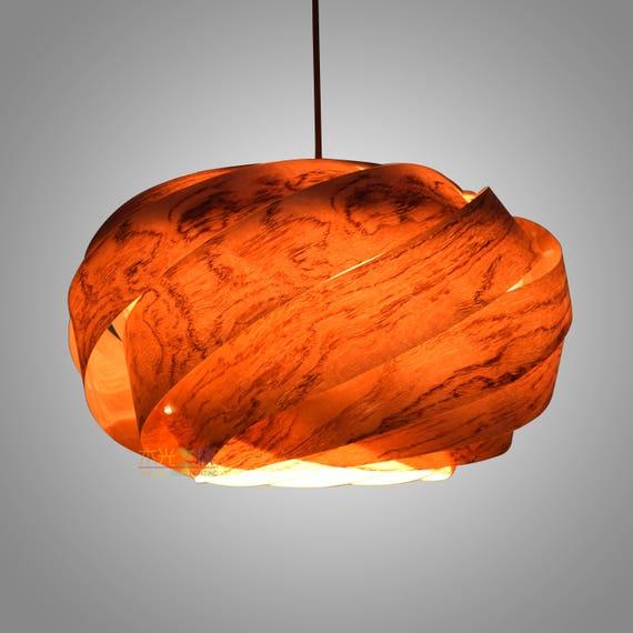 Pendant Light Chandelier Lighting Hanging Lamp Wood Pendant Light Wood Veneer Lamp Ceiling Light Beautiful Nest Pendant Lamp Rosewood Veneer