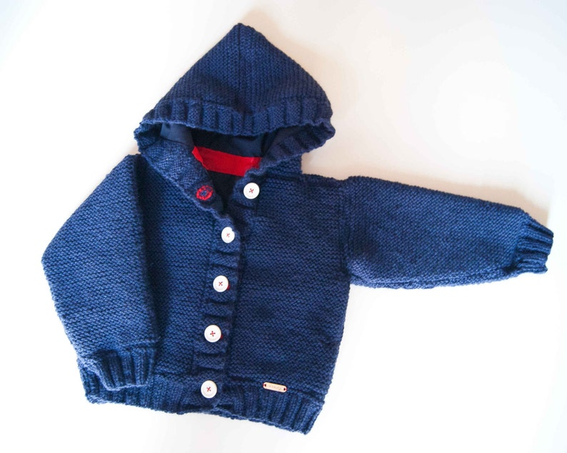 f018edd4140b Knitted hooded kids jacket winter wool sweater for baby and