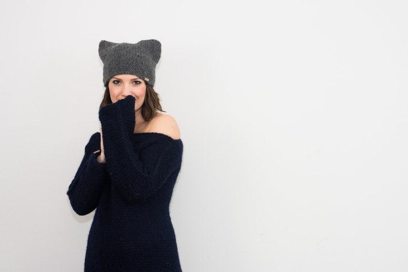 Maxi vestito in lana e alpaca da donna una maglia vestito  7fef138b48cf