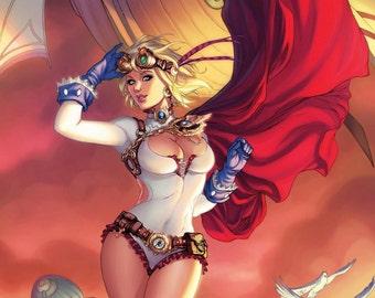 Steampunk Powergirl