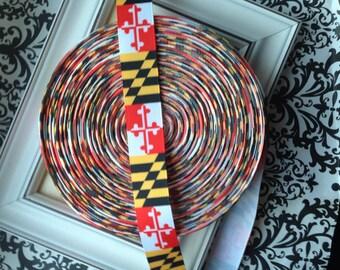 "Maryland Flag Grosgrain Ribbon 7/8"""