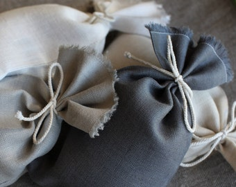 Wedding favor bags - Set of 50 linen bags - Scent sachets - Handmade in Lithuania - Made to order