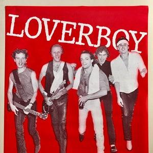 36x43 Promo Poster Vintage 1981 Original Scott Smith LOVERBOY Collectible Mike Reno Paul Dean Get Lucky