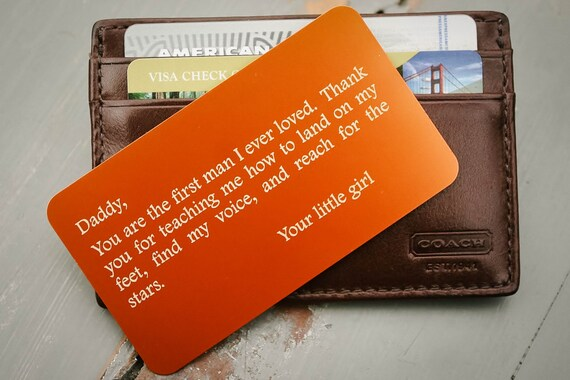 Personalized Wallet Insert Custom Wallet Card Father Of The Etsy