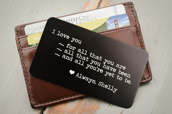 Personalized Wallet Card Insert I Love You For ALL That You Are
