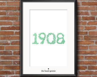 1908 Foiled Print