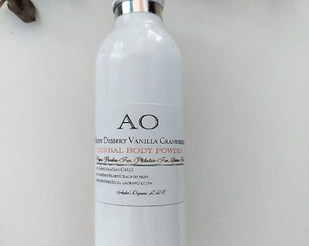 Organic Natural Pure Body Dessert Cranberry Vanilla Powder Talc, corn, perfume + preservative free - Handcreated Luxuries - NON GMO