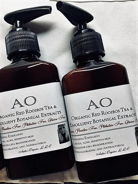 Organic Red Rooibos Tea & Emollient Extracts - eczema/acne/sensitive skins  Botanical Beauty  All Organically Preserved
