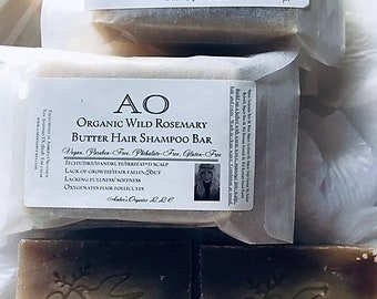 Organic Wild Buttererd Rosemary Extra Virgin Olive Hair Shampoo Grow, Ends, Roots, Scalp Care + Nourish Soapster Bar.  The AO soap bar!