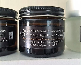 Organic Glowing Pumpkin Puree Glycolic Acid Facial Masque