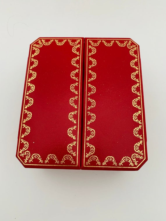 Red Cartier 4 x 5 inch watch box, Cartier Paris re