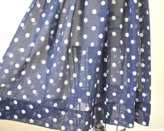 60s polka dot dress / shirts dress / two tone dre… - image 5