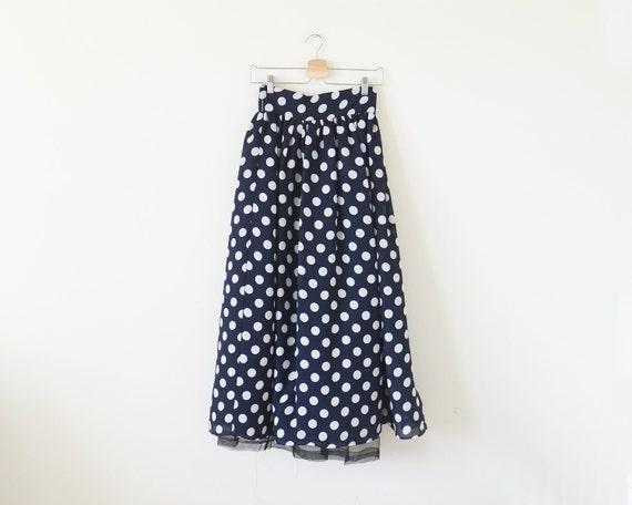 90s polka dot skirt / vintage DEADSTOCK maxi skirt
