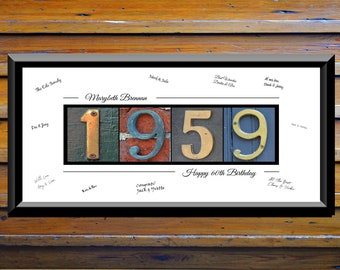 60th Birthday Gift For Him Men Party Decorations Sign 1959 Decor Ideas
