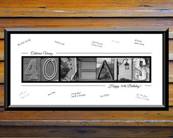 40th Birthday Gift For Him Men Party Decorations Sign Cheers To 40 Years