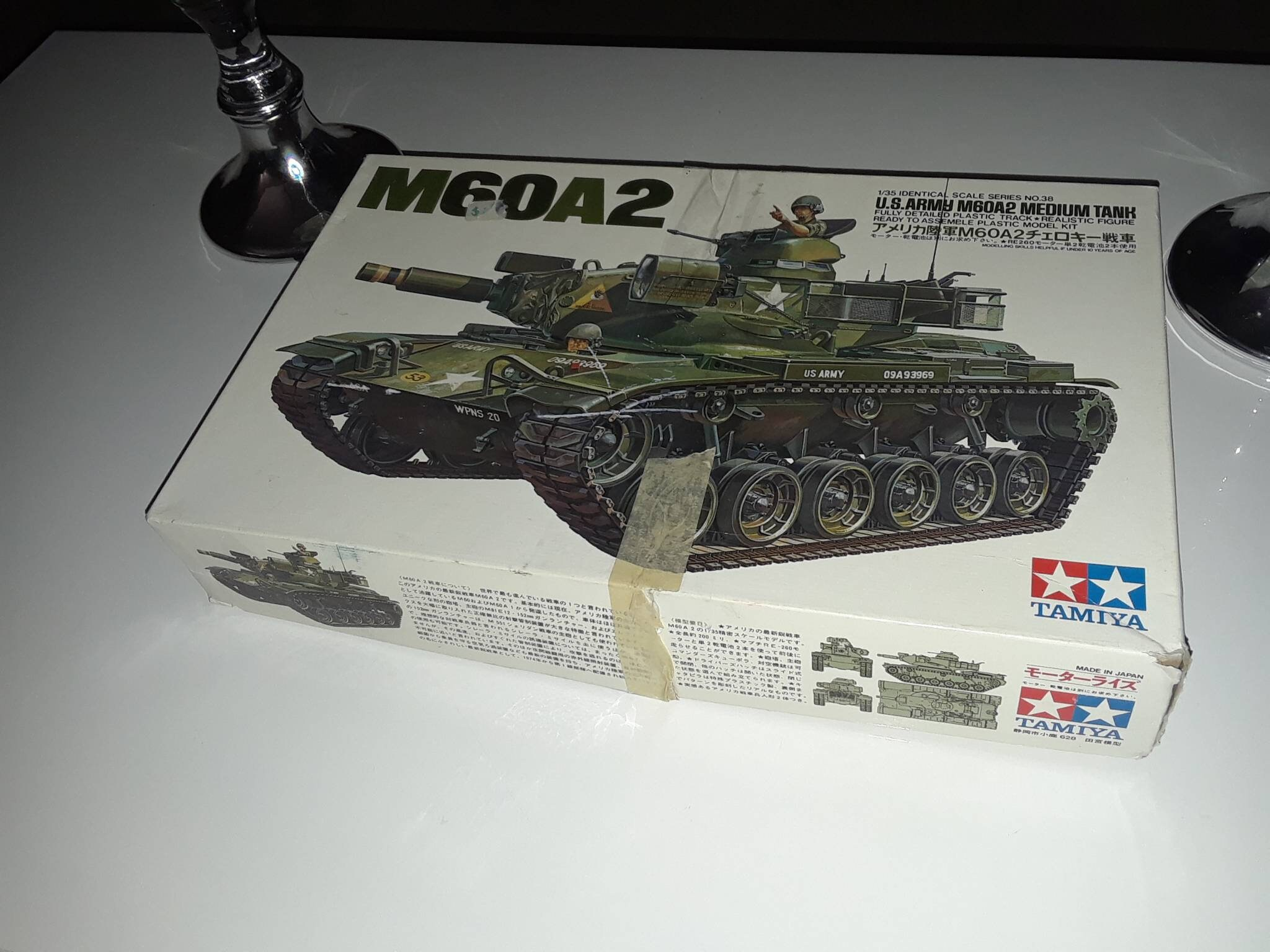 Vintage Tamiya M60A2 U S  Army medium tank model kit