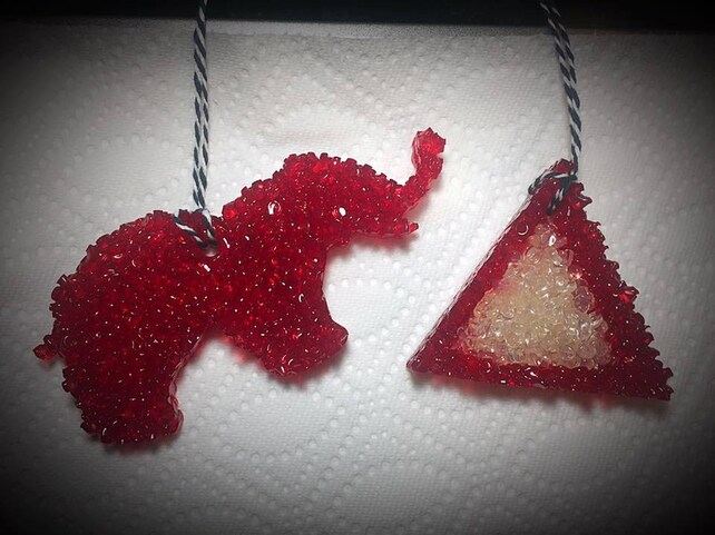 Car Air Fresheners In Delta Sigma Theta Shapes Aroma Beads Etsy